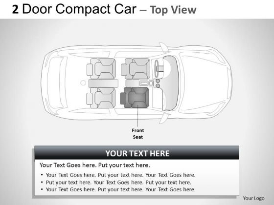 Engine 2 Door Blue Car Top PowerPoint Slides And Ppt Diagram Templates