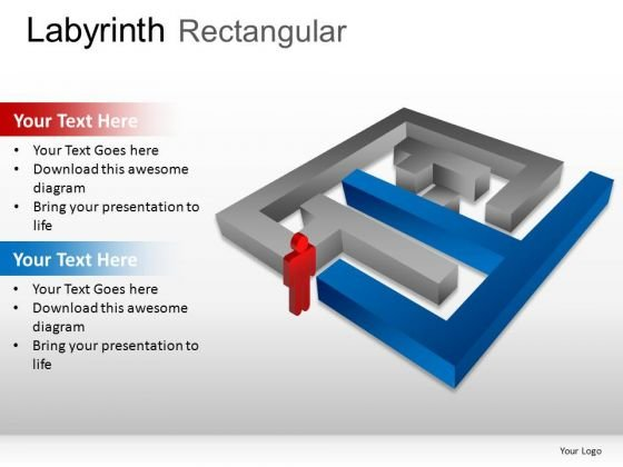 Enigma Labyrinth Rectangular PowerPoint Slides And Ppt Diagram Templates