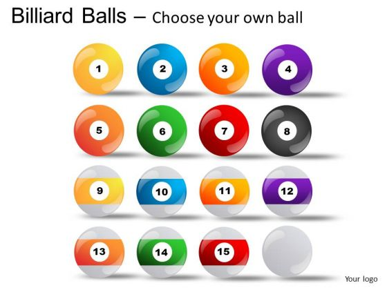 Entertainment Billiard Balls With Cue PowerPoint Slides And Ppt Diagram Templates