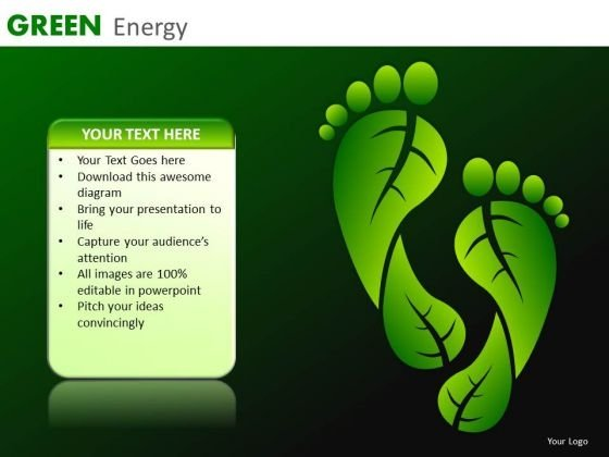 Environmentally Conscious PowerPoint Templates Carbon Footprints Ppt Slides