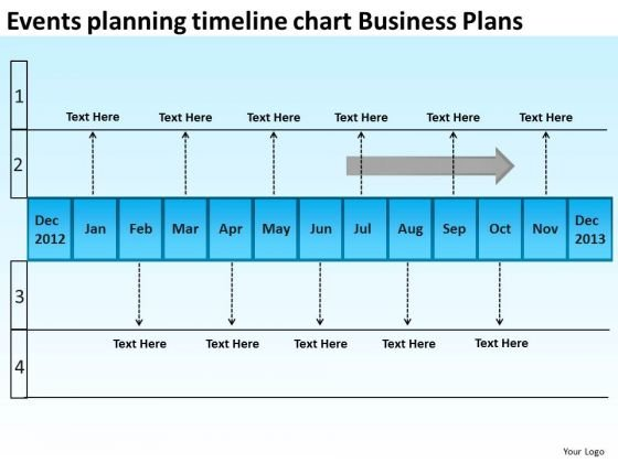 Events Planning Timeline Chart Business Plans PowerPoint Templates Ppt Slides Graphics
