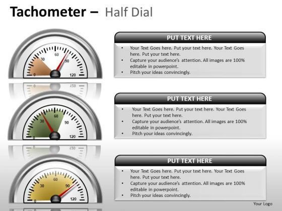 Events Tachometer Half Dial PowerPoint Slides And Ppt Diagram Templates