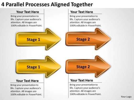 Example Of Parallel Processing Aligned Together PowerPoint Templates Ppt Backgrounds For Slides