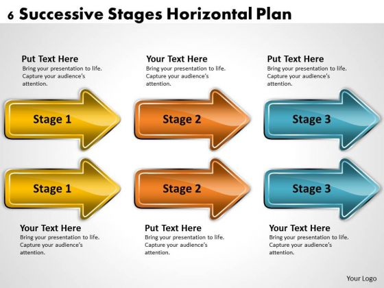 Example Of Parallel Processing Horizontal Plan PowerPoint Templates Ppt Backgrounds For Slides