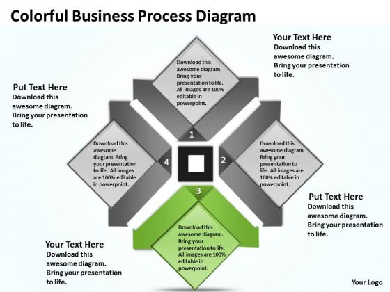 Examples Of Business Processes Diagram Templates 2010 PowerPoint Slides