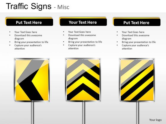Exclamation Traffic Signs PowerPoint Slides And Ppt Diagram Templates