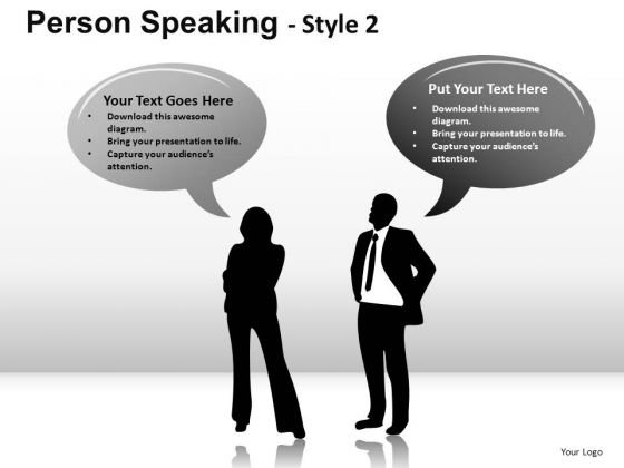 Executive Person Speaking 2 PowerPoint Slides And Ppt Diagram Templates