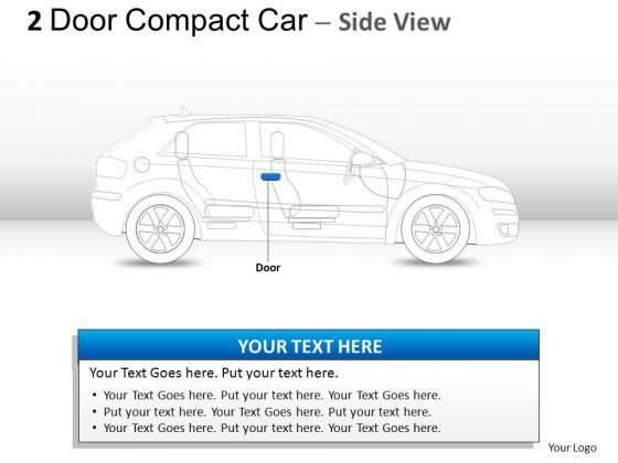 Expensive 2 Door Blue Car Side PowerPoint Slides And Ppt Diagram Templates