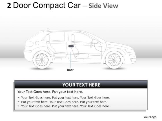 Expensive 2 Door Gray Car Side PowerPoint Slides And Ppt Diagram Templates
