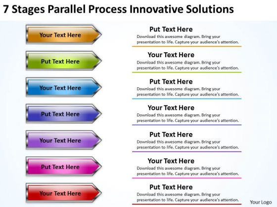 Explain Parallel Processing 7 Stages Innovative Solutions PowerPoint Slides