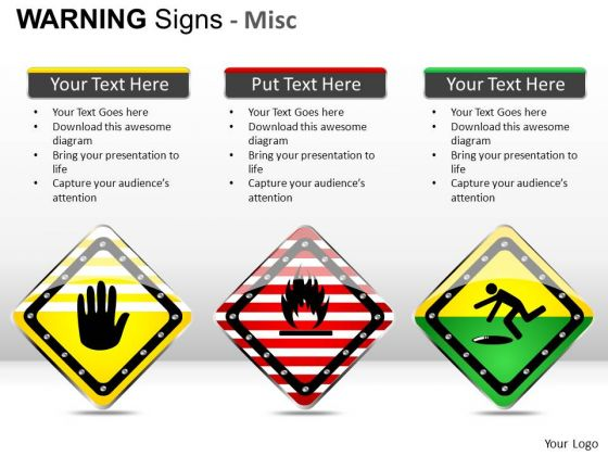 Explosive Warning Signs PowerPoint Slides And Ppt Diagram Templates
