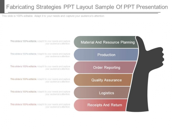 Fabricating Strategies Ppt Layout Sample Of Ppt Presentation