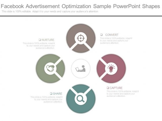 Facebook Advertisement Optimization Sample Powerpoint Shapes