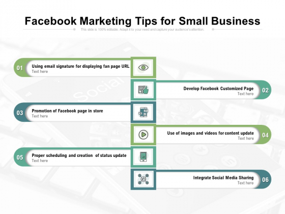 Facebook Marketing Tips For Small Business Ppt PowerPoint Presentation Professional Outfit PDF