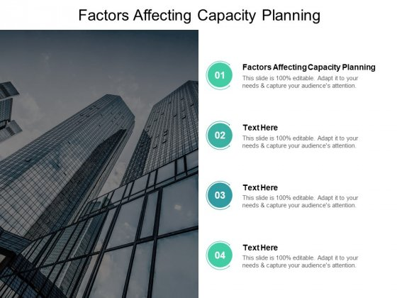 Factors Affecting Capacity Planning Ppt PowerPoint Presentation Summary Graphics Example Cpb