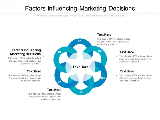 Factors Influencing Marketing Decisions Ppt PowerPoint Presentation Slides Visual Aids Cpb