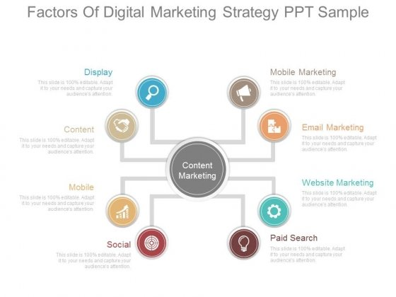 Factors Of Digital Marketing Strategy Ppt Sample