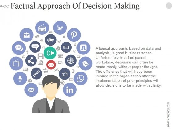 Factual Approach Of Decision Making Ppt PowerPoint Presentation Show