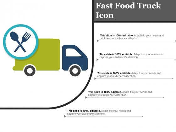 Fast Food Truck Icon Ppt PowerPoint Presentation Templates
