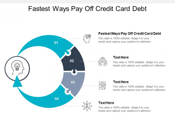 Fastest Ways Pay Off Credit Card Debt Ppt PowerPoint Presentation Show Portrait Cpb