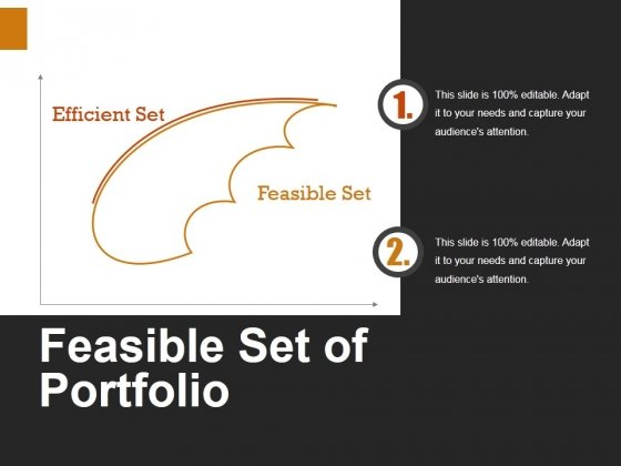 Feasible Set Of Portfolio Ppt PowerPoint Presentation Inspiration Format Ideas