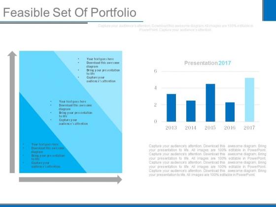 Feasible Set Of Portfolio Ppt Slides