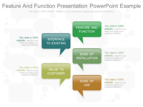 Feature And Function Presentation Powerpoint Example