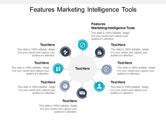 Features Marketing Intelligence Tools Ppt PowerPoint Presentation File Graphics Example Cpb