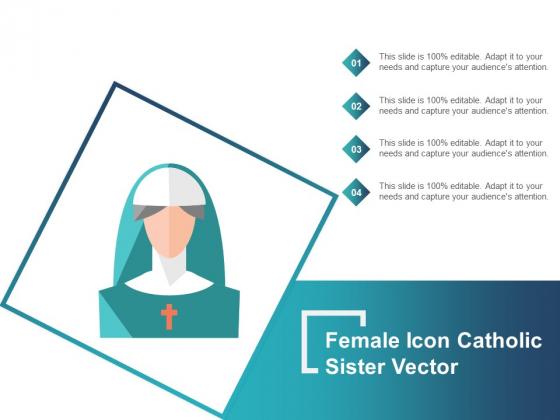 Female Icon Catholic Sister Vector Ppt PowerPoint Presentation Portfolio Themes