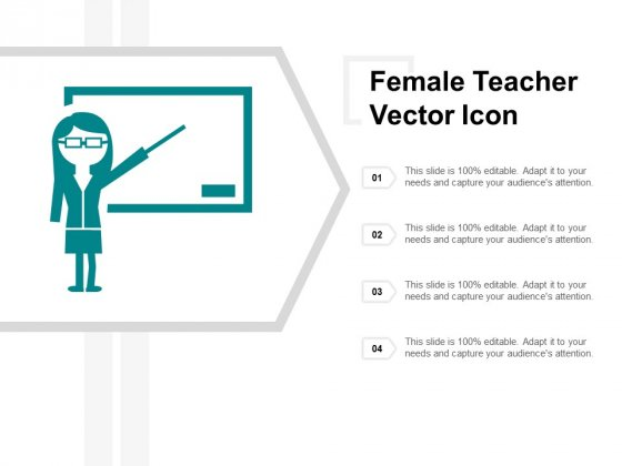 Female Teacher Vector Icon Ppt PowerPoint Presentation Gallery Mockup