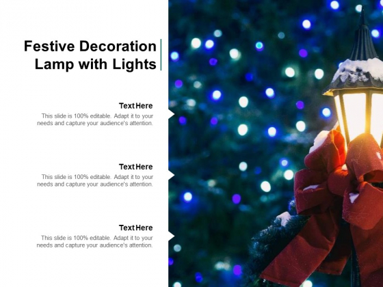 Festive Decoration Lamp With Lights Ppt PowerPoint Presentation Summary Grid