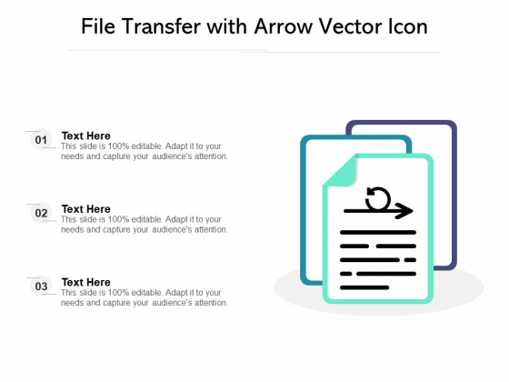 File Transfer With Arrow Vector Icon Ppt PowerPoint Presentation Infographic Template Tips PDF