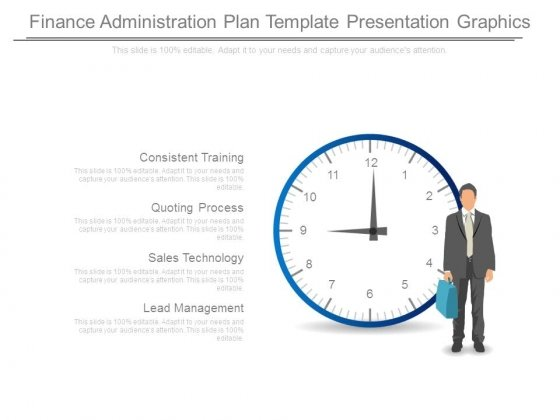 Finance Administration Plan Template Presentation Graphics
