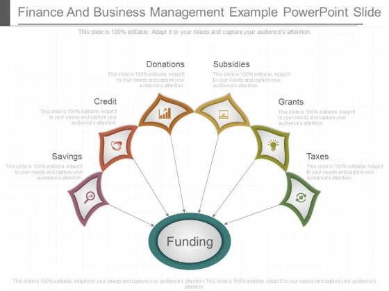 Finance And Business Management Example Powerpoint Slide