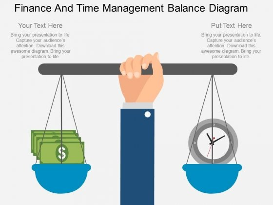 Finance And Time Management Balance Diagram Powerpoint Template