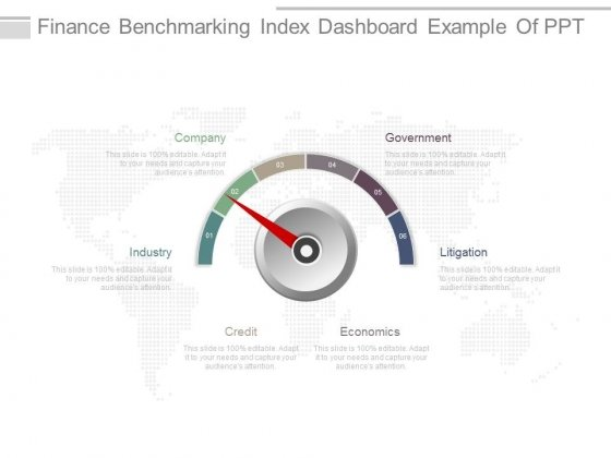 Finance Benchmarking Index Dashboard Example Of Ppt