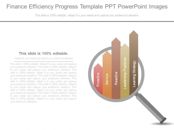 Finance Efficiency Progress Template Ppt Powerpoint Images