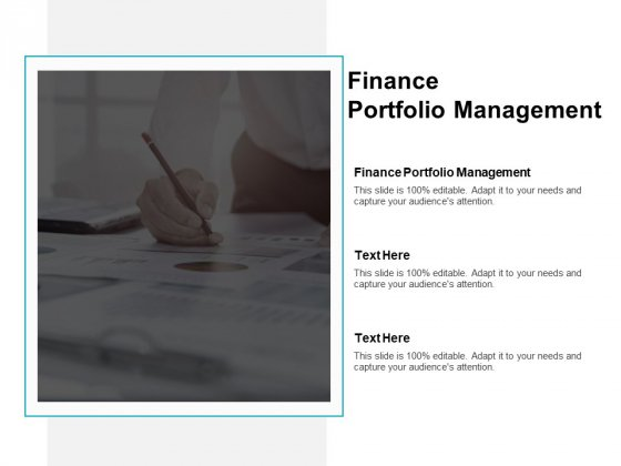 Finance Portfolio Management Ppt PowerPoint Presentation Professional Vector Cpb