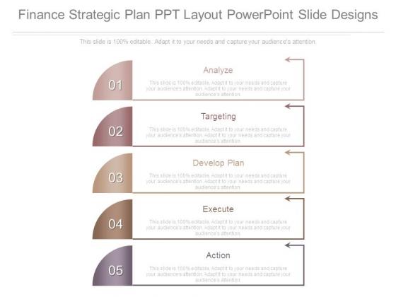 Finance Strategic Plan Ppt Layout Powerpoint Slide Designs