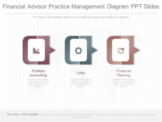 Financial Advisor Practice Management Diagram Ppt Slides