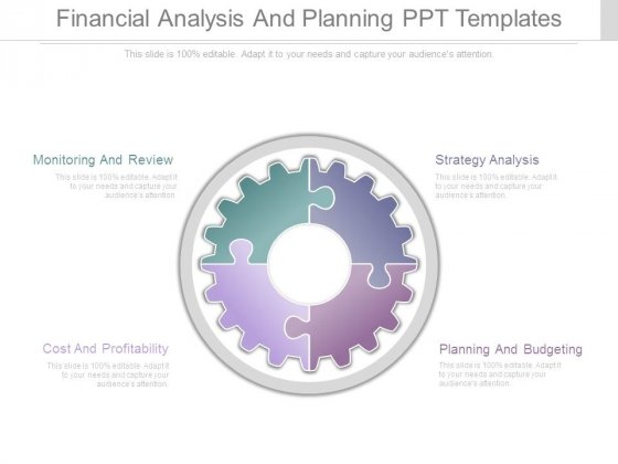 Financial Analysis And Planning Ppt Templates