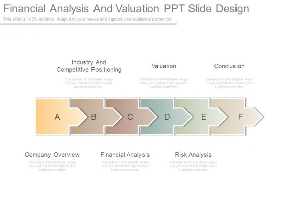Financial Analysis And Valuation Ppt Slide Design
