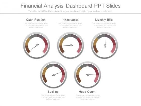 Financial Analysis Dashboard Ppt Slides