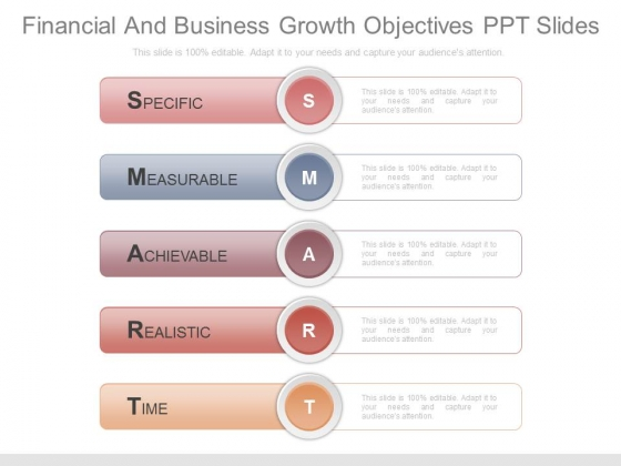 Financial And Business Growth Objectives Ppt Slides