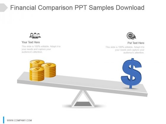 Financial Comparison Ppt Samples Download