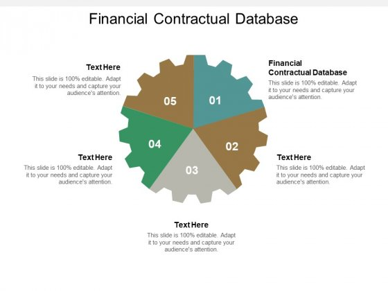 Financial Contractual Database Ppt PowerPoint Presentation Model Format Ideas Cpb