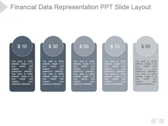 Financial Data Representation Ppt PowerPoint Presentation Rules
