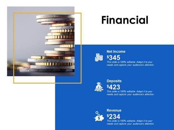 Financial Deposits Revenue Ppt Powerpoint Presentation Model Layout