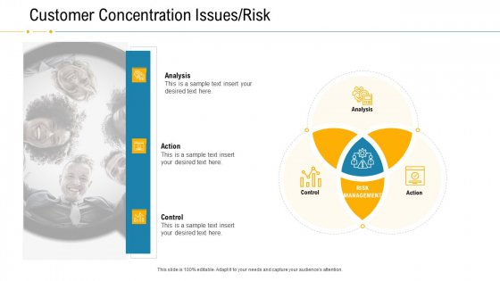 Financial Due Diligence For Business Organization Customer Concentration Issues Risk Elements PDF