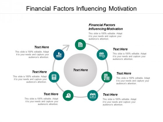 Financial Factors Influencing Motivation Ppt PowerPoint Presentation Layouts Example File Cpb